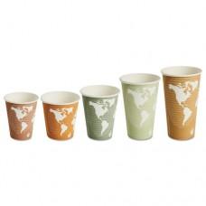 World Art Renewable/compostable Hot Cups, 8 Oz, Plum, 50/pack, 10 Pack/carton