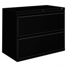 800 Series Two-Drawer Lateral File, 36w X 19-1/4d X 28-3/8h, Black