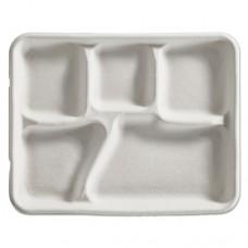 Savaday Molded Fiber Food Tray, White, 10 3/8 X 8 1/4 X 1, 120/bag, 4bag/carton