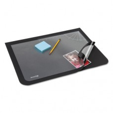 Lift-Top Pad Desktop Organizer With Clear Overlay, 22 X 17, Black