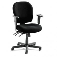 "Alera Wrigley 24/7 High Performance Multifunction Chair, 38 5/8""h, Black"