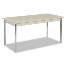 Utility Table, Rectangular, 60w X 30d X 29h, Light Gray