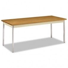 Utility Table, Rectangular, 72w X 30d X 29h, Harvest/putty