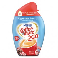 2go Liquid Creamer, Peppermint Mocha, 3 Oz Squeeze Bottle, 6/box