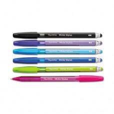 Inkjoy 100 Stick Stylus Ballpoint Pens, 1mm, Assorted, Dozen
