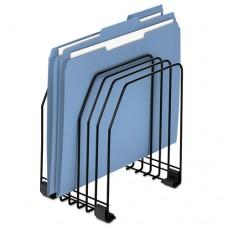Wire File Organizer, 7 Comp, Steel, 7 3/8 X 5 7/8 X 8 1/4, Black