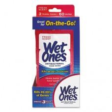 Antibacterial Moist Towelettes Travel Pack, White, Fresh Scent, 60/pk, 6 Pk/ct