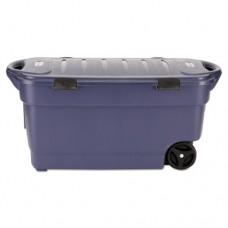 Roughneck Wheeled Storage Box, 45gal, Dark Indigo Metallic