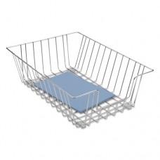 Wire Desk Tray Organizer, One Tier, Wire, Silver