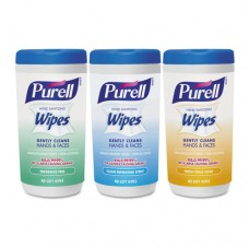 Hand Sanitizing Wipes, 5.7 X 7 1/2, Assorted, 40/canister, 3/pack
