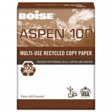 Aspen 100% Multi-Use Recycled Paper, 92 Bright, 20lb, 11 X 17, White, 2500/ct