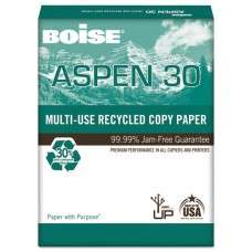 Aspen 30% Recycled Multi-Use Paper, 92 Bright, 20lb, 11 X 17, White, 2500/ct