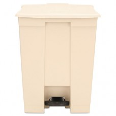 Step-On Receptacle, Rectangular, Polyethylene, 18gal, Beige