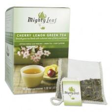 Whole Leaf Tea Pouches, Cherry Lemon Green Tea, 15/box