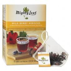 Whole Leaf Tea Pouches, Wild Berry Hibiscus, 15/box