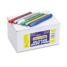 Glitter Glue Pens, Assorted, 10 Cc Tube, 72/pack