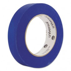 Premium Blue Masking Tape W/bloc-It Technology, 24mm X 54.8m, Blue