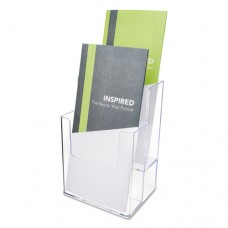 Extra-Deep Flat Back Display, Two Compartments, 4 1/2w X 3 3/4d X 7h, Clear
