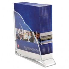 Stratus Acrylic Magazine Rack, 3 1/2 X 10 1/4 X 10 1/2, Clear