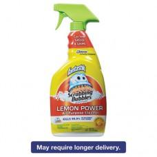 Scrubbing Bubbles Lemon Power Antibacterial Cleaner, 32 Oz Spray Bottle, 8/ct