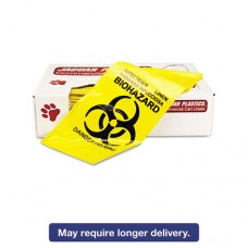 """Infectious Linen """"biohazard"""" Can Liners 1.3mil, 30 X 43, Yellow, 200/carton"""