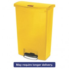 Slim Jim Resin Step-On Container, Front Step Style, 24 Gal, Yellow