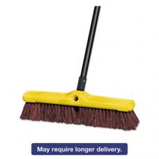 "Heavy Duty Floor Sweep, 18"" X 3"", Brown, Polypropylene"