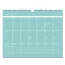 Color Play Wall Calendar, 15 X 12, Teal, 2017