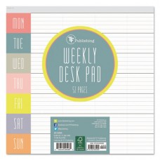 Glory Days Weekly Desk Pad, 7 3/4 X 7 3/4, Undated