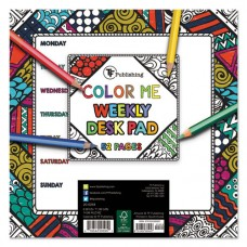 Color Me Weekly Desk Pad, 7 3/4 X 7 3/4, Undated