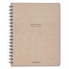 "Collection Twinwire Notebook, Legal, 7 1/4"" X 9 1/2"", Tan/navy Blue, 80 Sheets"