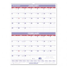 Two-Month Wall Calendar, 22 X 29, 2017