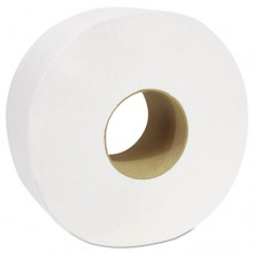 "Decor Jumbo Roll Jr. Tissue, 2-Ply, White, 3 1/2"" X 750', 12 Rolls/carton"