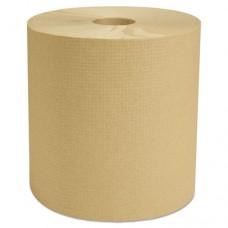 "Decor Hardwound Roll Towels, Natural, 7 7/8"" X 800', 6/carton"