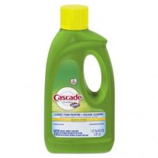 Automatic Dishwashing Gel W/bleach, Lemon Scent, 45 Oz Bottle