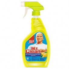 Multi-Surface Antibacterial Cleaner, Lemon, 32 Oz Bottle, 6/carton