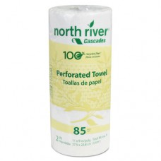 North River Perforated Roll Towels, 2-Ply, 11 X 9, 85/roll, 30/carton