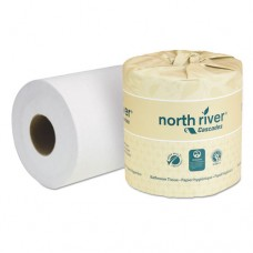 North River Standard Bathroom Tissue, 2-Ply, 4 5/16 X 3 3/4, 550/roll, 80/carton