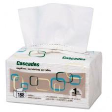 Cascades For Servone Napkins, 1-Ply, 6 1/2 X 4 1/4, White, 188/pk, 6016/crtn