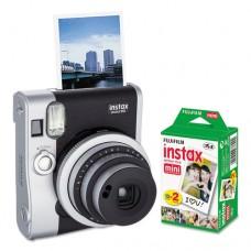 Instax Mini 90 Neo Classic Camera Bundle, Auto Focus, Black
