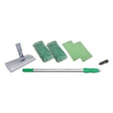 "Indoor Window Cleaning Kit, Aluminum, 72"" Extension Pole, 8"" Pad Holder, 4 Kits"