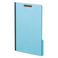 Earthwise Heavy-Duty Pressboard Folders, 1/3 Cut, Legal, Light Blue, 25/box