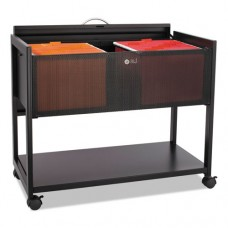 Locking Top Mobile Tub File, One-Shelf, 33-1/4w X 17d X 27h, Black