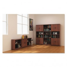 Alera Valencia Series Bookcase, Six-Shelf, 31 3/4w X 14d X 80 3/8h, Med Cherry