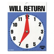 """Will Return Later Sign, 5"""" X 6"""", Blue"""
