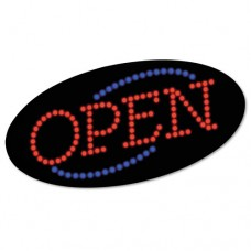 """Led Open Sign, 10 1/2: X 20 1/8"""", Red & Blue Graphics"""