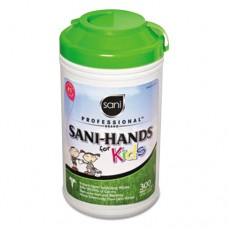 Sani-Hands Kids Antimicrobial Hand Wipes, 5 3/8 X 7 1/2, White, 3000/carton