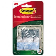 All Weather Hooks And Strips, Plastic, Small, 16 Clips & 20 Strips/pack