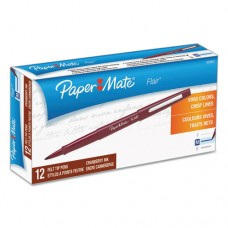 Point Guard Flair Bullet Point Stick Pen, Cranberry Ink, 1.4mm