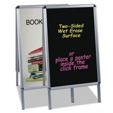 Wet Erase Board, 27x34, Black, Aluminum Frame